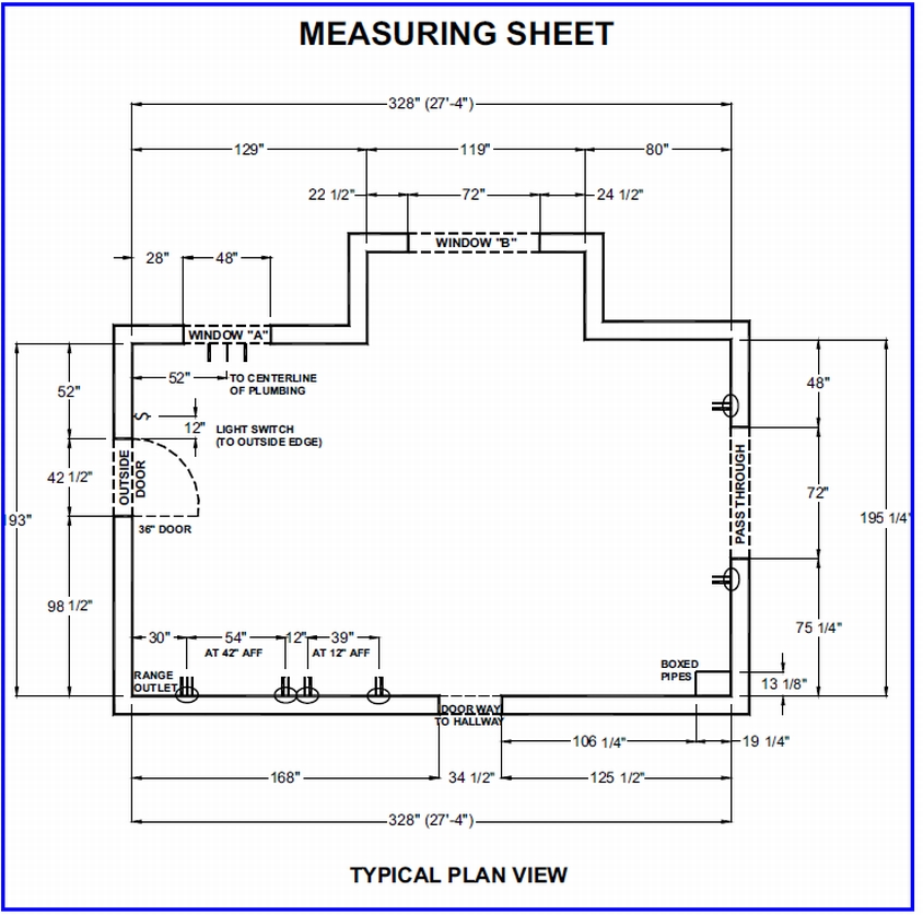 4 locate plumbing and electrical outlets